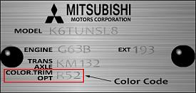 Mitsubishi Asx White Paint Codes
